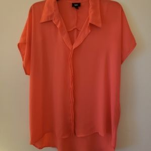 Womens orange sheer shirt